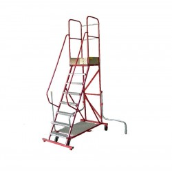 Stalen Bordestrap (12 treden) met wegklapbare stabilisatoren