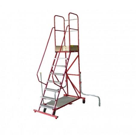 Stalen Bordestrap (14 treden) met wegklapbare stabilisatoren