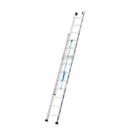 Schuifladder touw 2 delig 2432 met (2x18 sporten)