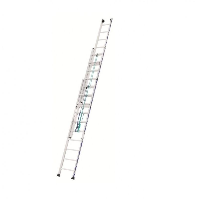 Schuifladder touw 3 delig 2433 met 3x16 sporten