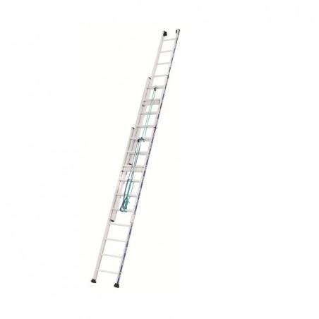 Schuifladder touw 3 delig 2433 met (3x18 sporten)