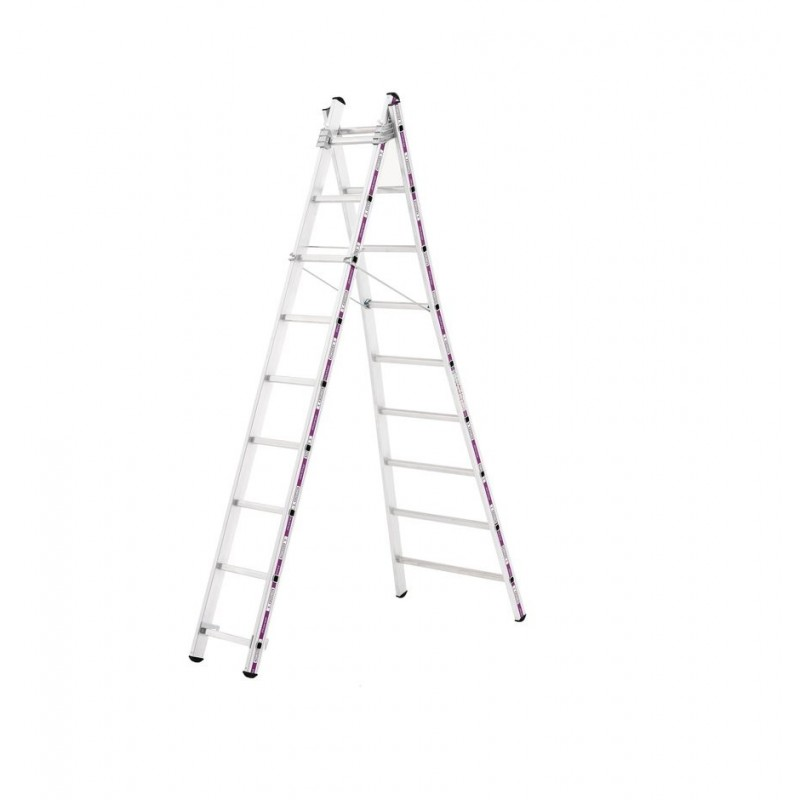 Reformladder 1242 met uitgebogen ladderbomen 2x10 sporten