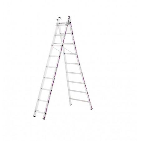 Reformladder 1242 met uitgebogen ladderbomen (2x10 sporten)