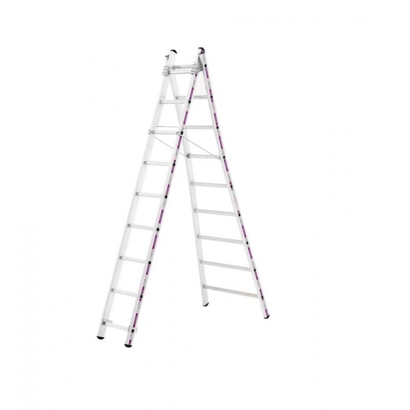 Reformladder 1242 met uitgebogen ladderbomen 2x14 sporten