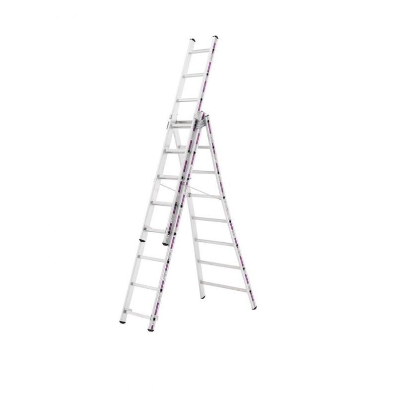 Reformladder 1243 met uitgebogen ladderbomen 3x12 sporten