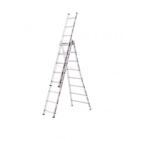 Reformladder 1243 met uitgebogen ladderbomen (3x12 sporten)